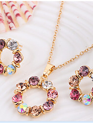 MISSING U  Women Cute / Party Rose Gold Plated / Alloy / Rhinestone Necklace / Earrings Jewelry Sets