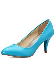 Women's Shoes PVC / Leatherette Stiletto Heel Heels Heels Wedding / Office & Career / Dress / Casual Blue / Yellow