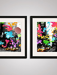 Framed  UK Cityscape Modern Canvas Art Set of 2 for Wall Decoration Ready To Hang