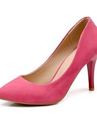 Zapatos de mujer - Tacón Stiletto - Tacones / Puntiagudos - Tacones - Casual - Semicuero - Azul / Rosa / Rojo / Almendra