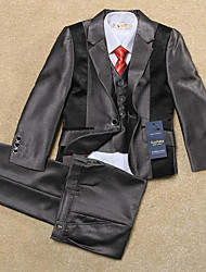 Silver Polyester Ring Bearer Suit - 5 Pieces