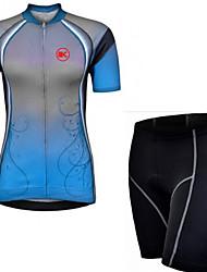 KEIYUEM® Maillot et Cuissard de Cyclisme Femme / Unisexe Manches courtes VéloEtanche / Respirable / Séchage rapide / Pare-vent / Isolé /