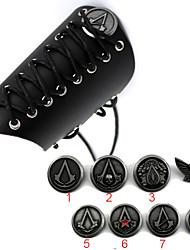 Arma / Jóias Inspirado por Assassin's Creed Fantasias Anime Acessórios de Cosplay Manopla / Crachá Preto Liga / Couro Envernizado
