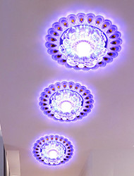 20CM Crystal Ceiling Lamp Spotlight LED SMD 3W Creative Lamp Tube Light Colorful Color  Dome Light