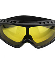 Outdoor Cycling Windproof PVC Lens Goggles Glasses Yellow