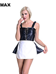 XFMAX Ladies Sexy French Maid Rocky Horror Valentines Fancy Dress Costume Outfit Kit