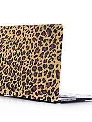 Dark Leopard Print Style PC Materials Water Stick Flat Shell For MacBook