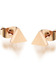 Titanium Steel Golden Triangle Earrings