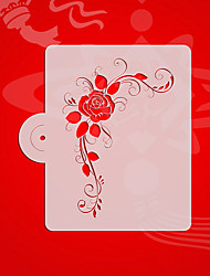 Square Rose Design 3# Cake Decorating Stencil,Cake Top Stencil Template,Wedding Cake Stencil Wall ,Valentines ST-3182