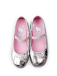 Non Customizable Kids' Dance Shoes Ballet Leatherette Flat Heel Silver