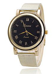 Mulheres Relógio de Moda Quartzo Metal Banda Dourada Branco Preto
