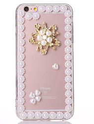 perle 2 TPU + affaire pc transparent pour iphone6,6s