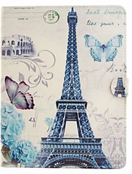 Paris Tower Coloured Drawing or Pattern PU Leather Folio Case Tablet Holster for iPad 4/3/2
