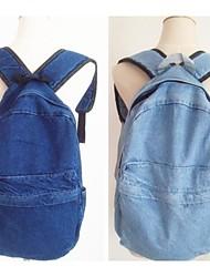 Unisex Tejido Oxford Mochila Azul