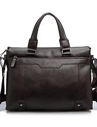 Men PU Messenger Shoulder Bag / Tote / Carry-on Bag / Boarding Case/Cabin Case - Brown / Black / Khaki