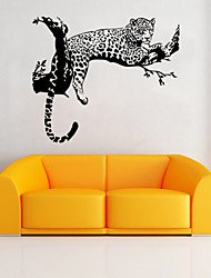 Tiger Leopard Waterproof Wall Stickers Creative Personality Living Room Bedroom Decoration Removable Poster Wallpaper