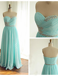 Formal Evening Dress - Lime Green Ball Gown Sweetheart Floor-length Chiffon