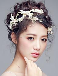 Bride's Bowknot Imitation Pearl Forehead Wedding Headbands 1 PC