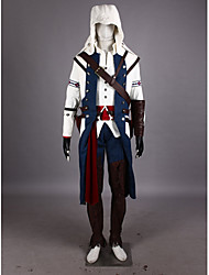 Inspired by Assassin's Creed Connor Video Game Cosplay Costumes Cosplay Suits Patchwork WhiteCloak / T-shirt / Pants / Hat / Armlet /