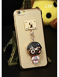 Charm Pendants With Plating TPU Back Case For Iphone6 plus,6S plus(13#~16#)(Assorted Color)