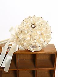 Hochzeitsblumen Rundförmig Rosen Sträuße Hochzeit Polyester Satin Elastischer Satin ca.23cm