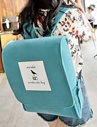 Women Suede Bucket Backpack - Blue / Green