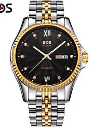 BOS Automatic Mechanical Watches Watches Dual Calendar Mens Watch Waterproof Luminous Fashion Wrist Watch Cool Watch Unique Watch