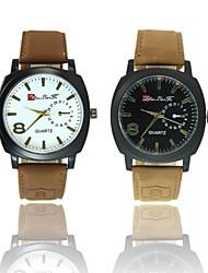 Fashion Quartz Watch Men Watches Military Watches Men Corium Leather Strap wristwatch relogio masculino Wrist Watch Cool Watch Unique Watch