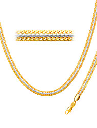 Two Tone Necklace With 18K Stamp Gold Plated Jewelry Hot Sell New Trendy 55 CM Snake Chain Necklace NB60071