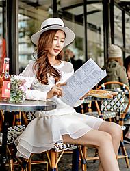 Shorts ( Polyester ) Sexy / Informel / Mignon Taille Haute à Shorts pour Femme
