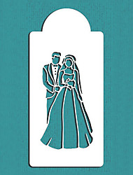 Bride and Groom Cake Stencil,Wedding Cake Decorations Stencils cake Mold Mould, Fondant Cake Decoration Tools ST-115