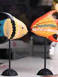 bois massif sculpture baiser les amateurs de poissons ménages agir le rôle ofing se déguste cadeau du jour de l'ameublement anniversaire