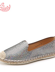Women's Shoes Low Heel Round Toe Flats Casual Silver / Gray