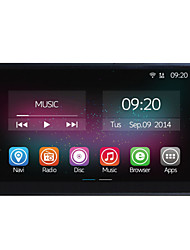 7 Inch In-Dash 800*480 Full Touch Panel Car Multimedia Player for Universal 2 Din Quad Core CPU Android 4.4.2 GPS