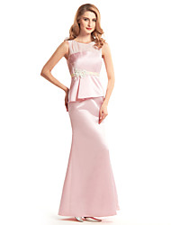 Lanting Trumpet/Mermaid Mother of the Bride Dress - Blushing Pink Ankle-length Sleeveless Satin