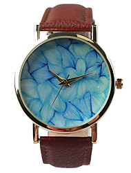 Fashion Leisure Belt Watch Female Flower Pattern