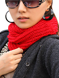 Unisex Cotton Blend Cute Casual Knit Cowl Neck Scarf