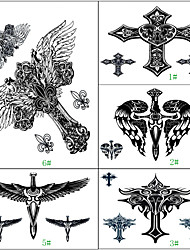 1Pcs Waterproof Arm Back Cross Wing Beautiful Body Art Temporary Tattoo Sticker 5 Design Choosing
