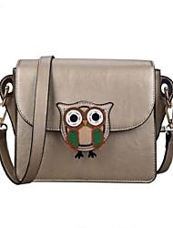 Women PU Sling Bag Shoulder Bag - Pink / Gold / Silver / Black