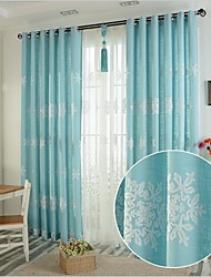Two Panel Europe Contracted Style Cotton Embroidered The Sitting Room The Bedroom Curtains