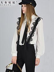 Pantalon Aux femmes Large Sexy / Décontracté Polyester Micro-élastique
