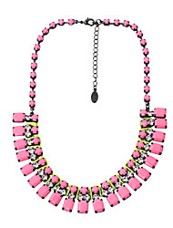 Fashion Women Stone Set Statement Necklace