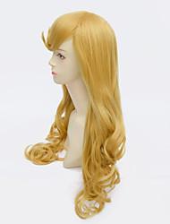 Sleeping Beauty Princess Aurora Wig Long Curly Golden Anime Cosplay Wigs