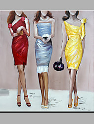 Oil Painting Modern Abstract Pure Hand Draw Ready To Hang Decorative The Clothing Models