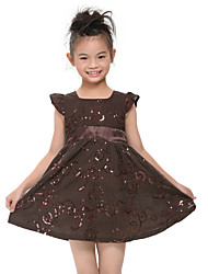 Girl's Dress Baby Short Sleeve Clothes Cotton Children Dresses(Random Printed)