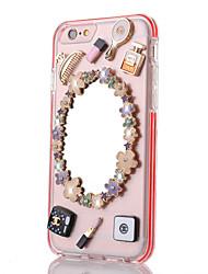 bordure de couleur miroir TPU + pc retour cas pour iPhone6 ainsi, 6s plus (couleurs assorties)