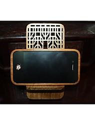 grade de janela (forma double xi) titular do telefone de madeira vermelha
