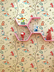 al-mullk Trees/Leaves Wallpaper Contemporary Wall Covering , Non-woven Paper American Farm Animals