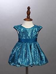 Vestido Chica de - Todas las Temporadas - Algodón - Azul