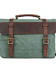 Herren - Umhängetasche / Beutel / Schulranzen / Laptop Tasche / Schultasche - Kuhfell / Leinwand - Kuriertasche -Grün / Braun / Grau /